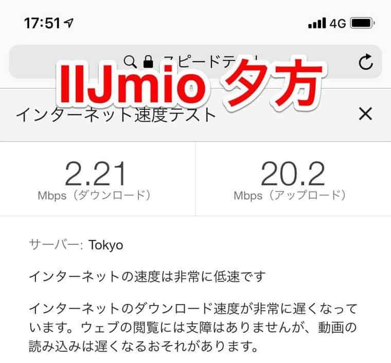 IIJmio 通信速度